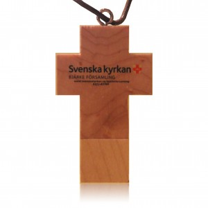 Wood Cross USB Flash Drive, Wooden Cross USB Stick
