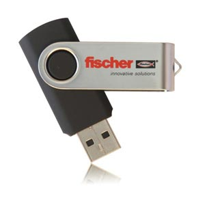 Twister USB Flash Drive. Swivel USB Memory Stick