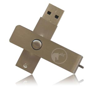 Aluminium Swivel USB Flash Drive Aluminium Twist Memory Stick