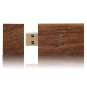 Wood Dark USB Flash Drive, Wood Dark Memory Stick