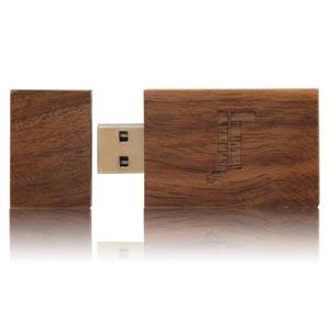 Wood Dark USB Flash Drive, Wood Dark Memory Stick
