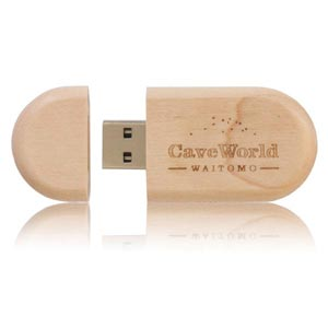 Wood Round USB Flash Drive, Wooden Memory Stick