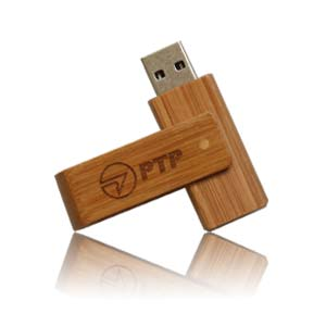 Wood Spin USB Flash Drive, Wood Spin Memory Stick