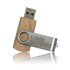 Wood Swivel USB Flash Drive, Wood Swivel Memory Stick
